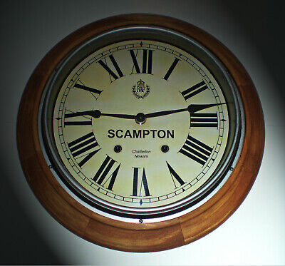 Royal Air Force Style, RAF Scampton, Souvenir Vintage Style Wooden Wall Clock.