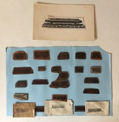 VINTAGE 1950s MECCANO HORNBY PRINTING BLOCKS PLATES SUPERDETAILED WAGONS (18)