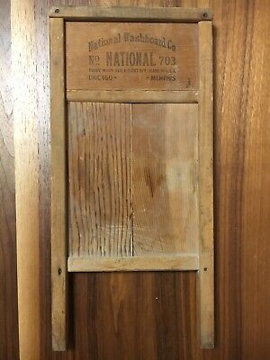 "Vintage National Washboard Company 703 The Zinc King Lingerie Board 18"" Chicago"