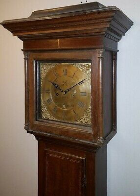 Georgian Oak Longcase Clock by Alex Ferguson of Cupar 8 day