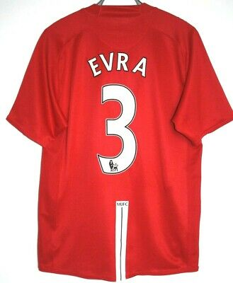 Manchester United Shirt EVRA 3 Home 2007/2008/2009 L Large 42 - 44 Man Utd