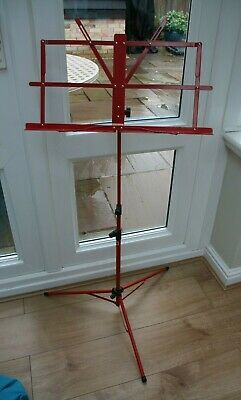 Red Music Stand Adjustable Height
