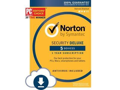 Norton by Symantec Security Deluxe 5 Devices instant email  delivery authentic