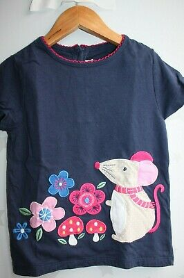 JoJo Maman Bebe Baby Girls Mouse top Size 3-4 years / Next day post