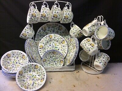 42pic Dinner Set In A Blue Design Of Minton Haddon Hall