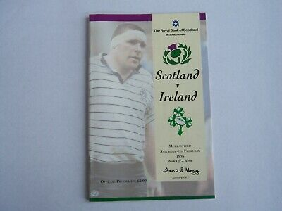 1995-Scotland V Ireland-Five Nations-International-Rugby Union Programme