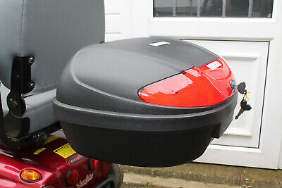 Mobility Scooter Rear Locking Secure Shopping Box Detachable Storage XL 52ltr BN