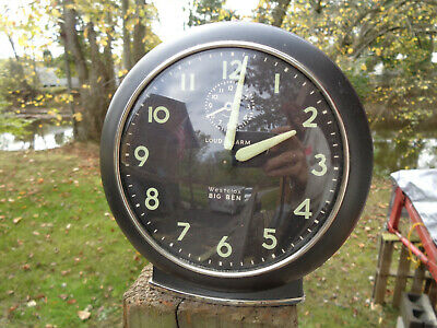 ANTIQUE VINTAGE Clock LOUD ALARM ESTATE WESTCLOX BIG BEN MID C GLOW PARTS AS-IS!