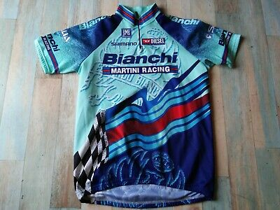 Maillot Cycliste Sms Santini Bianchi Martini Racing Taille Xxl/6 Tbe