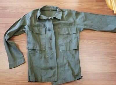 WW2 MILITARY US Army 13 Star Button HBT Shirt Jacket 36r