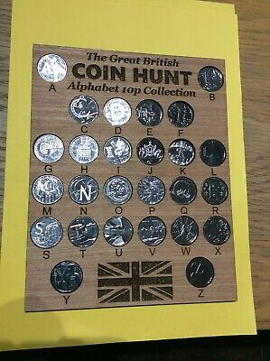 10p Alphabet Display Coin Holder Inc Full Set 2018 Unc Letters/coins