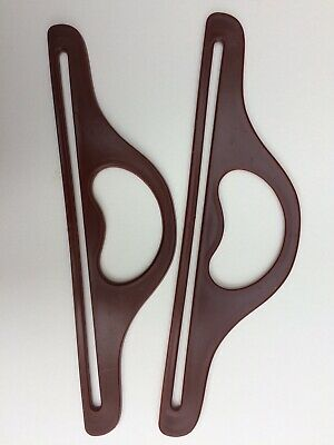 Macramé - Brown Plastic Handles for making a bag. Also suitable for fabric.