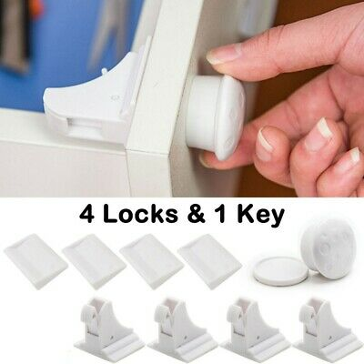 Magnetic Baby Proof Children Security Cabinet Locks for Drawers Cupboards Set