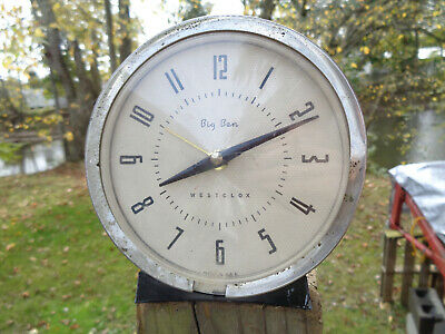 ANTIQUE VINTAGE Clock ALARM ESTATE WESTCLOX BIG BEN MIDC RETRO USA PARTS AS-IS!