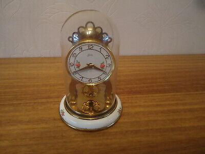 vintage schatz balance wheel 59 movement 8 day carriage aniversary mantle clock