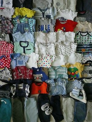 Massive Baby Boys Clothes Bundle 3 - 6 Months/Over 60 Items