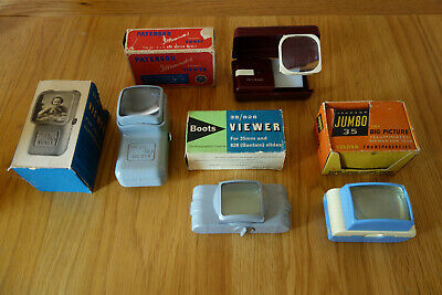 Job lot of 4 Vintage Boxed Slide Viewers - Paterson, Johnson and Boots