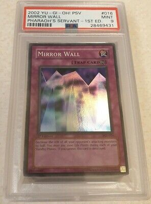Yu-Gi-Oh 1St Edition Pharaonic Guardian - Mirror Wall #16 - Psa 9 Mint