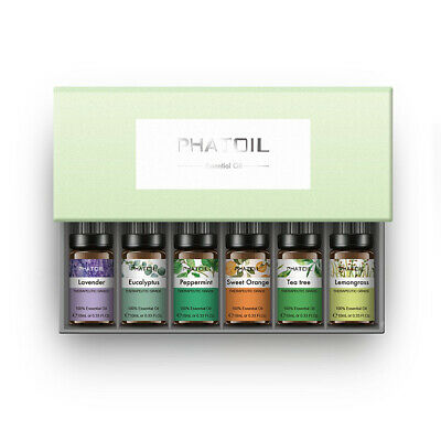Pure Essential Oil 6PCS/Set - Natural Aromatherapy for Oil Diffuser Humidifier