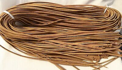 94 REAL SUEDE LEATHER LACE BUNDLE 6' TAN 5mm