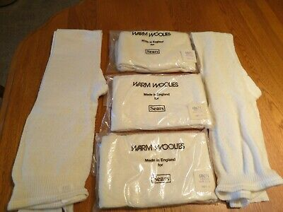 5 Pack Vintage Sears WARM WOOLIES Medium White New Old Stock