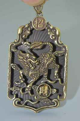 Collectable Handwork Decorative Copper Carve Exorcism Dragon Lucky Use Pendant