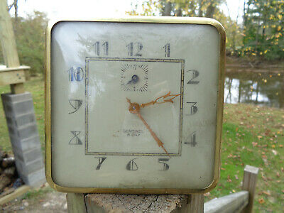 ANTIQUE VINTAGE Clock ALARM ESTATE SENTINAL 8 DAY PARTS AS-IS!