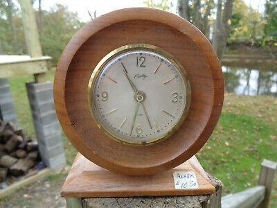 ANTIQUE VINTAGE Clock ALARM ESTATE BRADLEY GLOW ARMS GERMANY PARTS AS-IS!