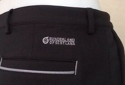 Sunderland Fleece Lined Water Resistant Golf Trousers Mens Size W34 L31