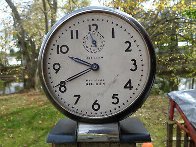 ANTIQUE VINTAGE Clock LOUD ALARM ESTATE WESTCLOX BIG BEN CA 1930s PARTS AS-IS!!