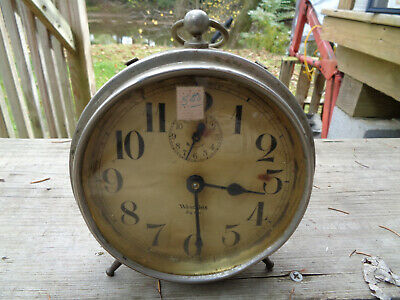 ANTIQUE VINTAGE Clock ALARM ESTATE WESTCLOX BIG BEN LEGS CA 1919 PARTS AS-IS!!!