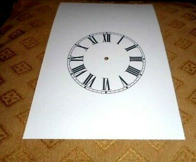 "Steeple Paper (Card) Clock Dial - 4 1/4"" M/T  Roman - MATT WHITE - Parts/Spares"