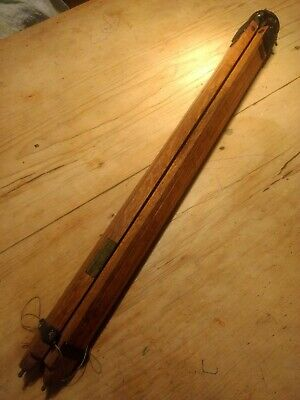 Vintage wooden THE ARROW TRIPOD, Sherwood, Birmingham Oak Adjustable