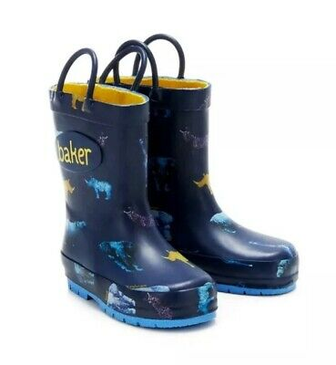 Boys Ted Baker Wellies Navy Blue Size 8 New
