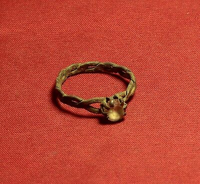 Nice Medieval Screwed Finger Ring, 16. Century