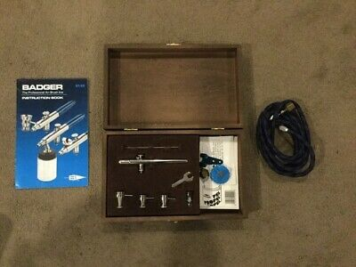 Badger professional air brush 100-4 SS with wooden box
