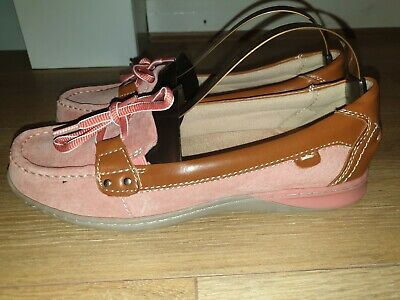 Superb Ladies Designer Clarks Loafer Slip On Leather Shoes Uk 6 Rrp £55.00