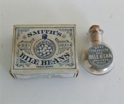 Vintage Apothecary Pharmacy Drugstore Smith's Bile Beans James F Ballard c 1909