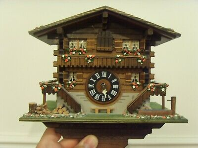 LOETSCHER FINE SWISS CHALET CUCKOO Coo Coo CLOCK - 2 Weight Spares or Repairs