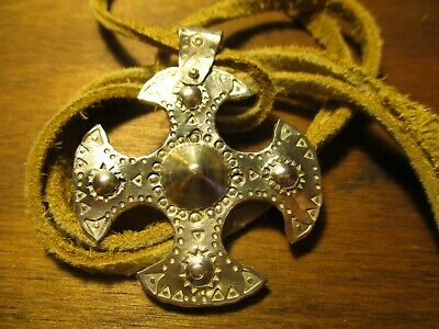 Viking Cross Pendant Norse Anglo Saxon Amulet 925 sterling Silver