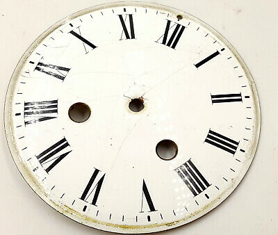 Antique  Clock enamel face .
