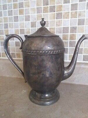 Antique Sheridan Silver On Copper Snake Serpent Teapot
