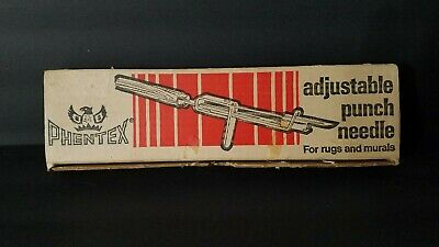 Vintage Phentex Adjustable Punch Needle for Murals & Rugs w/ Box