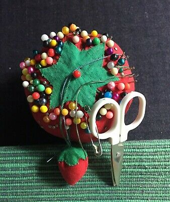Vintage Tomato with Strawberry Sewing Pin Cushion