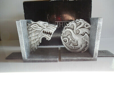 Game of Thrones 2013 Bookends Stark and Targaryen Sigil House HBO Fantasy Rare