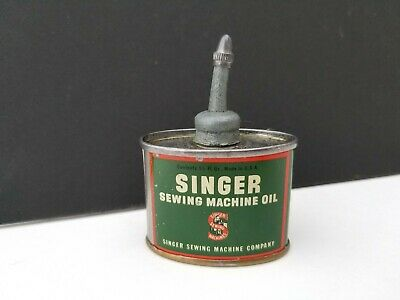 Vintage Singer 221 Featherweight Sewing Machine Oil Can, 1-1/3 ounce 1930's
