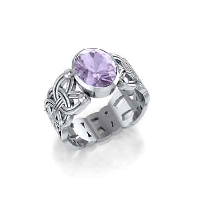 Courtney Davis Viking Borre Knot Ring Amethyst .925 Sterling Silver Peter Stone