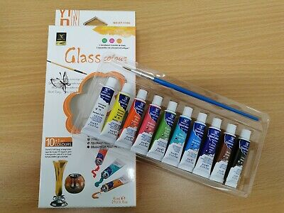 10+1 Colours Paints TUBES SET Glass Fabric Oil Gouache and WaterColour  Bright c