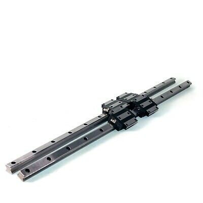 2x THK 750MM (29.5 IN) HRS20 Linear Rail With 4x Bearing Blocks