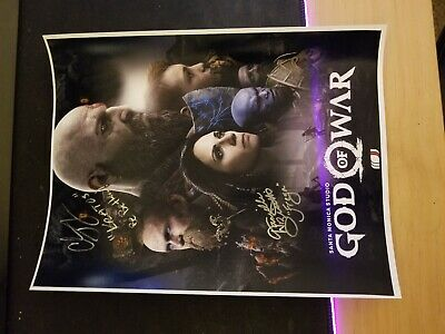 God of War Print Signed by Kratos and Freya!